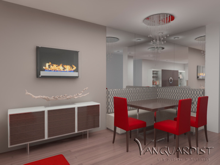 Vista Sala Principal de Vanguardist Design Studio Moderno