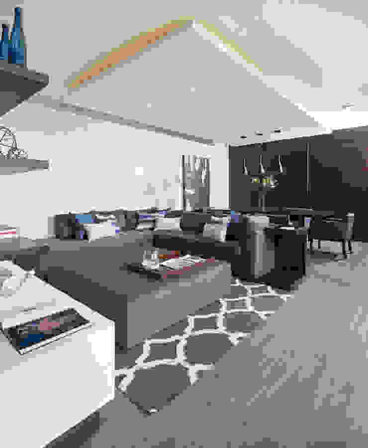 Casa RR Salas multimedia modernas de MM estudio interior Moderno