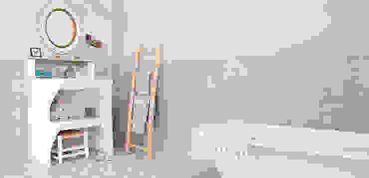 Bathroom by homify, Country Bricks