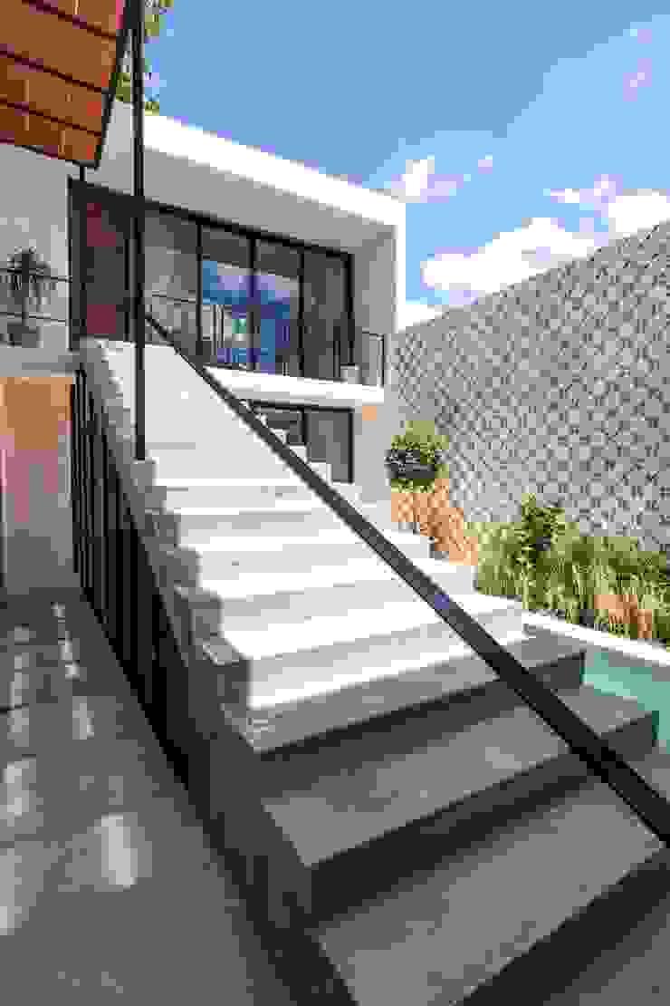 Modern Corridor, Hallway and Staircase by Taller Estilo Arquitectura Modern Concrete