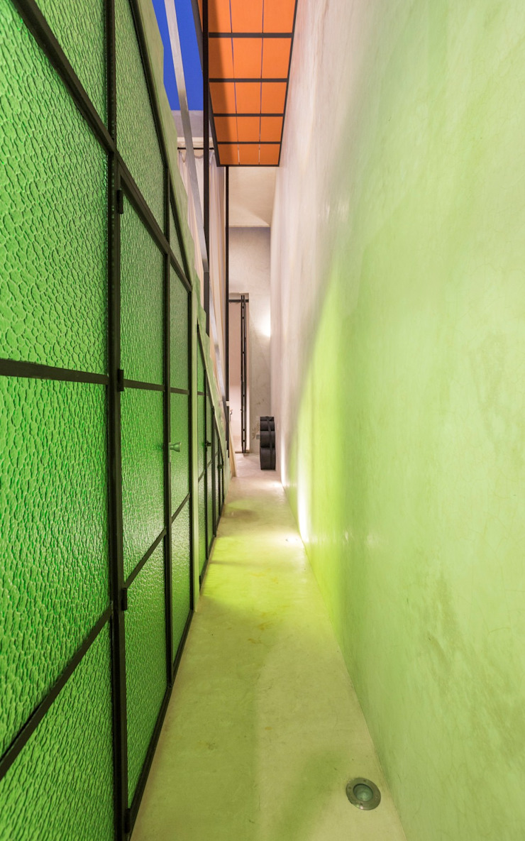 Modern Corridor, Hallway and Staircase by Taller Estilo Arquitectura Modern Glass