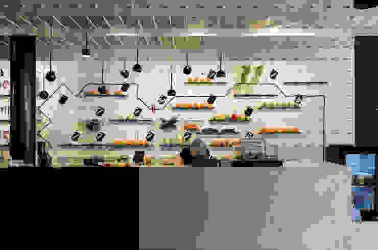 SAP bagel & juicebar Moderne gastronomie van INTER/ALTER interior architects Modern