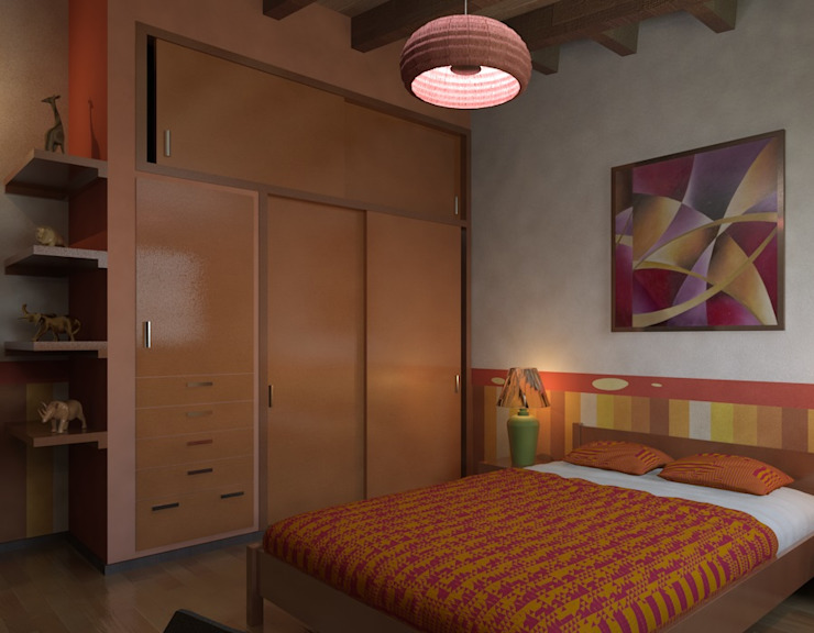 Arq. Rodrigo Culebro Sánchez Eclectic style bedroom