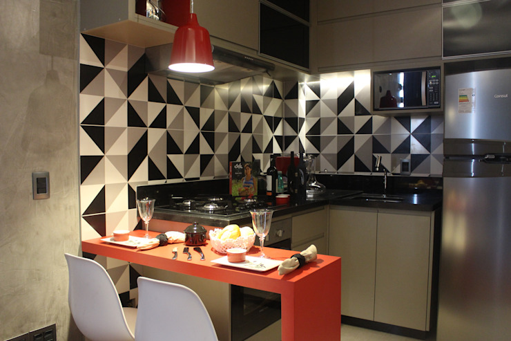 Concept Engenharia + Design Modern kitchen MDF Grey