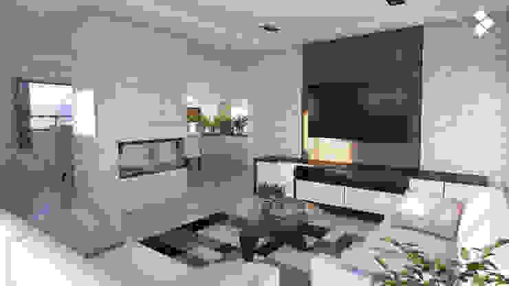 Sala de estar Salones modernos de CDR CONSTRUCTORA Moderno