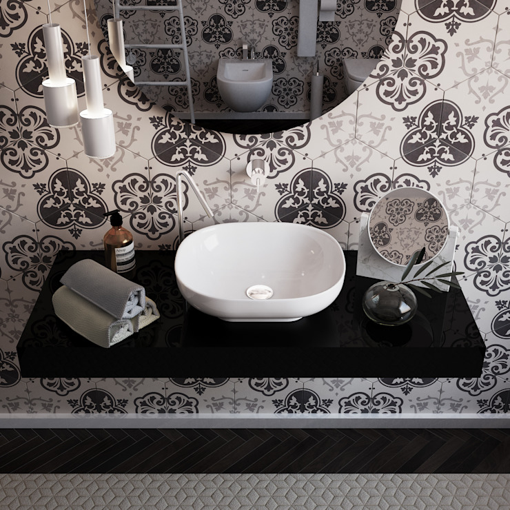 Salle de bains de style  par olivia Sciuto, Moderne