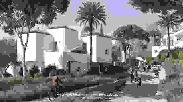 Calle de la urbanización Casas de estilo moderno de TUAN&CO. arquitectura Moderno