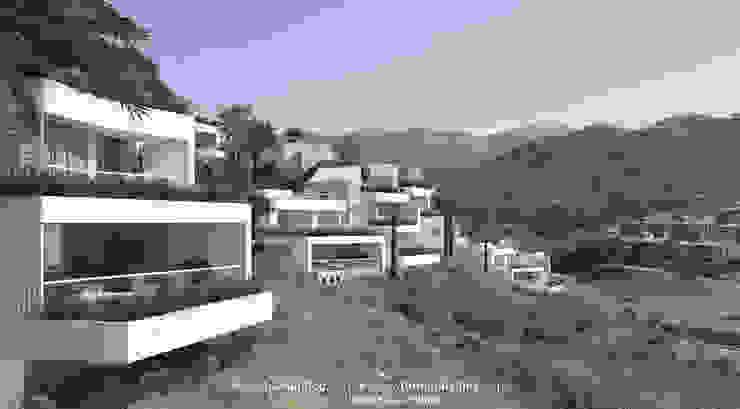 Vista exterior de la urbanización Casas de estilo moderno de TUAN&CO. arquitectura Moderno