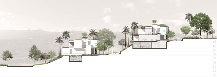 Sección desciptiva del proyecto Casas de estilo moderno de TUAN&CO. arquitectura Moderno