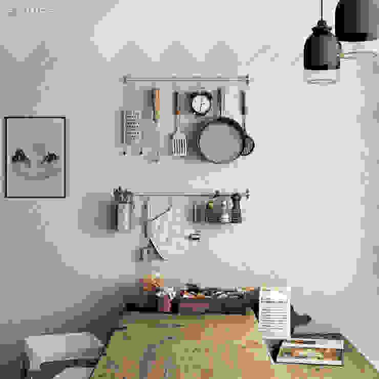 Evolution Greige 7,5x15 Cocinas de estilo moderno de Equipe Ceramicas Moderno