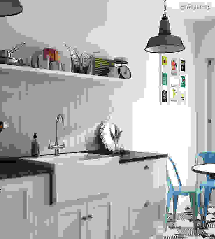 Evolution Sky Blue 7,5x15 Cocinas de estilo moderno de Equipe Ceramicas Moderno