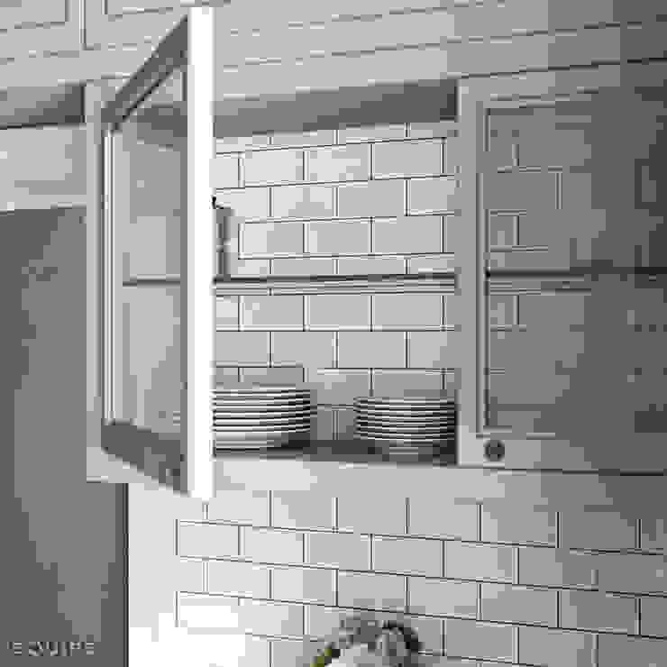 Evolution Blanco Brillo 7,5x15 Cocinas de estilo moderno de Equipe Ceramicas Moderno