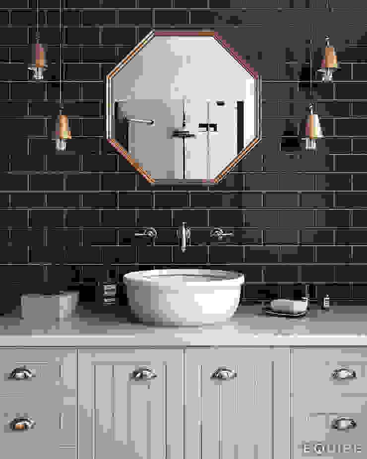 Evolution Negro 7,5x15 Baños de estilo moderno de Equipe Ceramicas Moderno