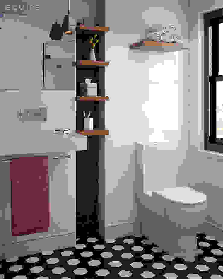 Evolution Blanco Brillo 15x15 Baños de estilo moderno de Equipe Ceramicas Moderno