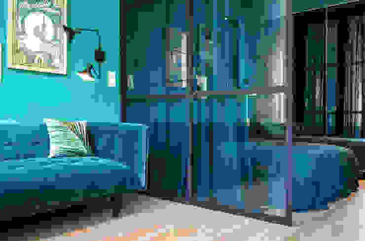 Blue Velvet Salon industriel par Insides Industriel Métal