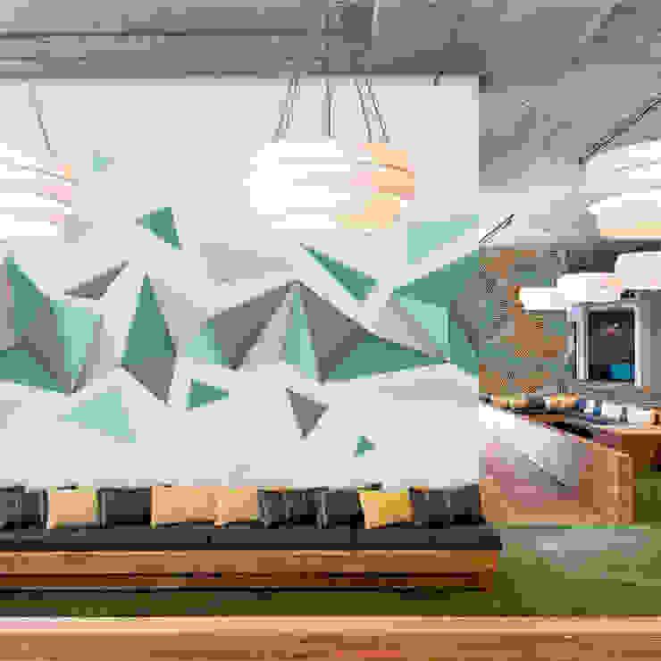 Turquoise World Moderne Wände & Böden von Pixers Modern
