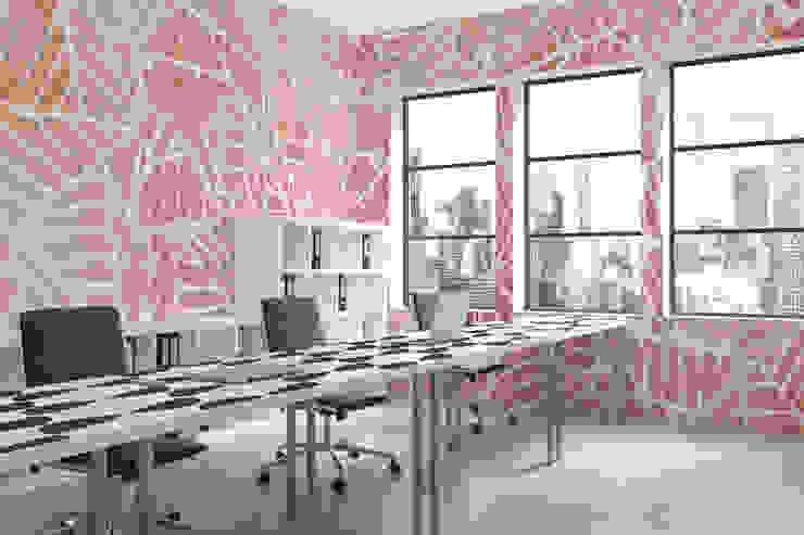 Watercolor Leaves Moderne Arbeitszimmer von Pixers Modern