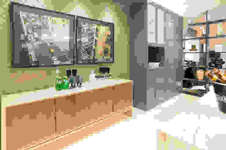 Duo Arquitetura Cucina moderna Legno Blu