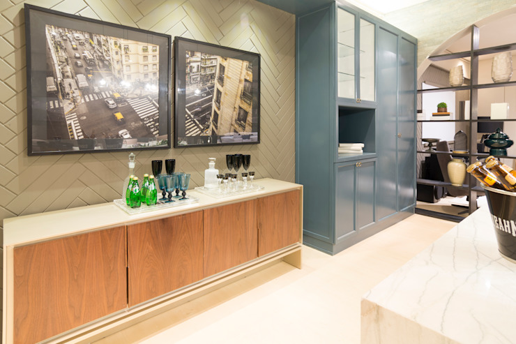 Duo Arquitetura Modern Kitchen Wood Blue