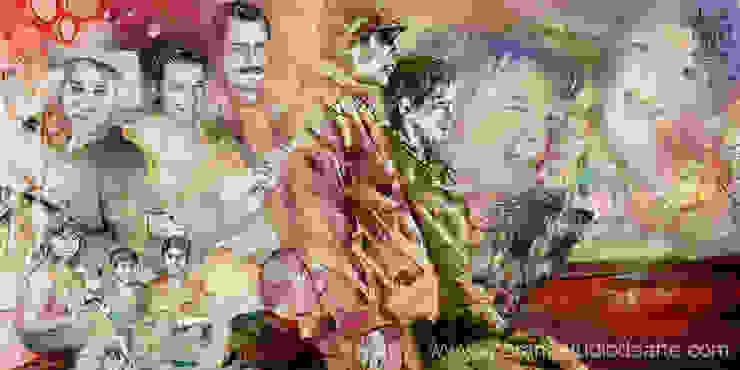 El Retrato Familiar que realizo contiene las vivencias más importantes de la familia... de MORAN Estudio De Arte Minimalista