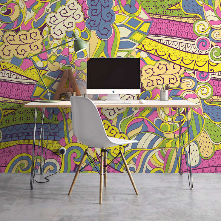 Craziness Pixers Modern study/office Multicolored
