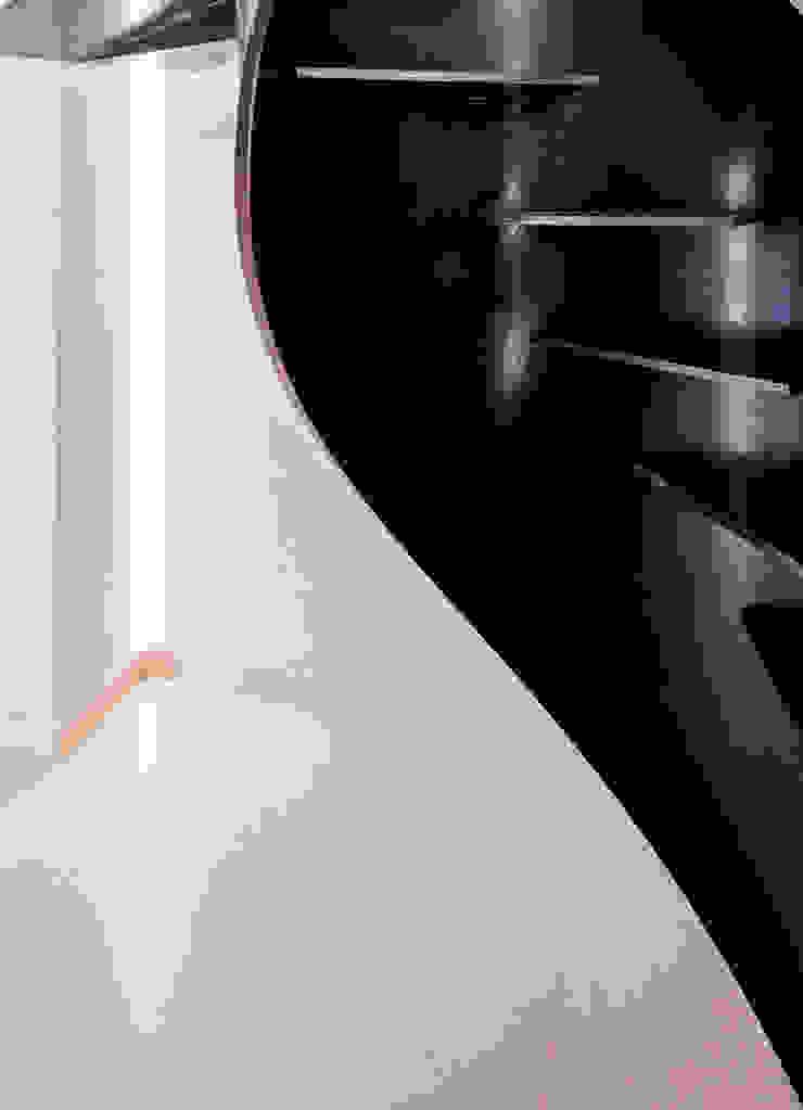 Grassi Pietre srl Modern corridor, hallway & stairs Metal Black