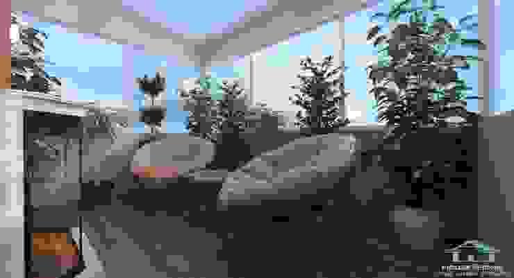 HOUSE&HOME minimalist style balcony, porch & terrace
