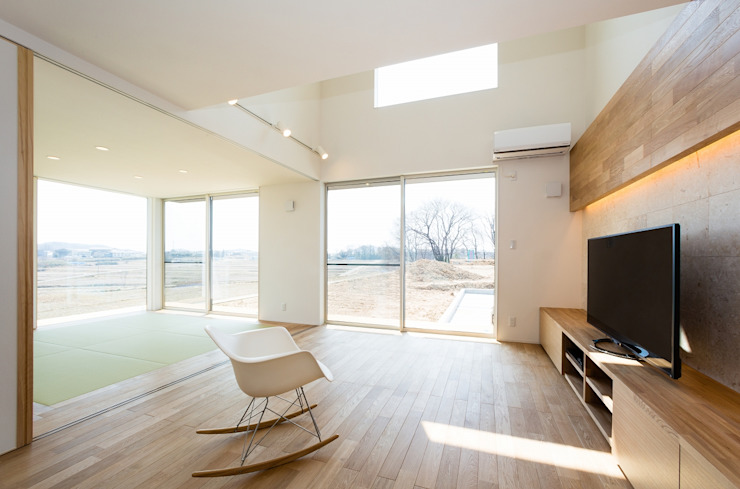 Moderne woonkamers van TKD-ARCHITECT Modern Hout Hout
