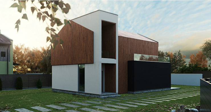 Grynevich Architects Minimalist house Engineered Wood Wood effect