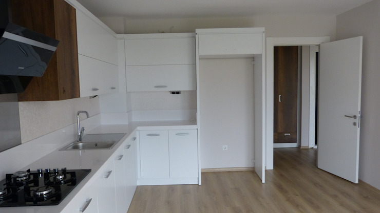 Lavinya Apartmanı Modern Mutfak yücel partners Modern Ahşap Ahşap rengi