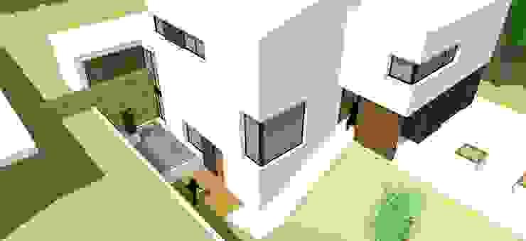 Villa met praktijk te Born, Nederland Minimalistische huizen van FWP architectuur BV Minimalistisch Beton