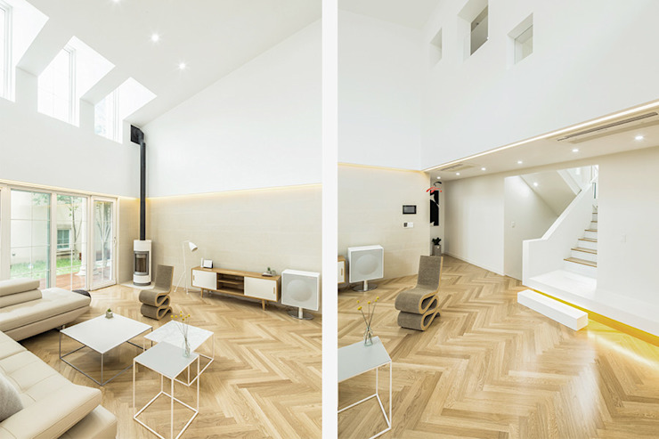 The Modern Square _용인 타운하우스 모던스타일 거실 by 지오아키텍처 모던