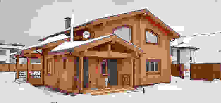 Casas rústicas por Дмитрий Кругляк Rústico Madeira Acabamento em madeira