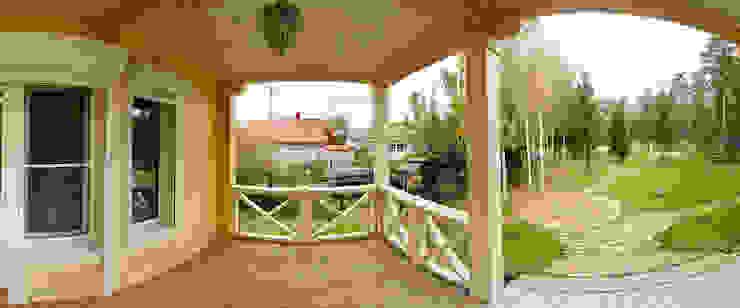 Projekty,  Domy zaprojektowane przez Дмитрий Кругляк, Rustykalny