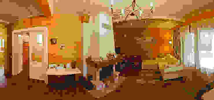 Projekty,  Salon zaprojektowane przez Дмитрий Кругляк, Rustykalny Drewno O efekcie drewna