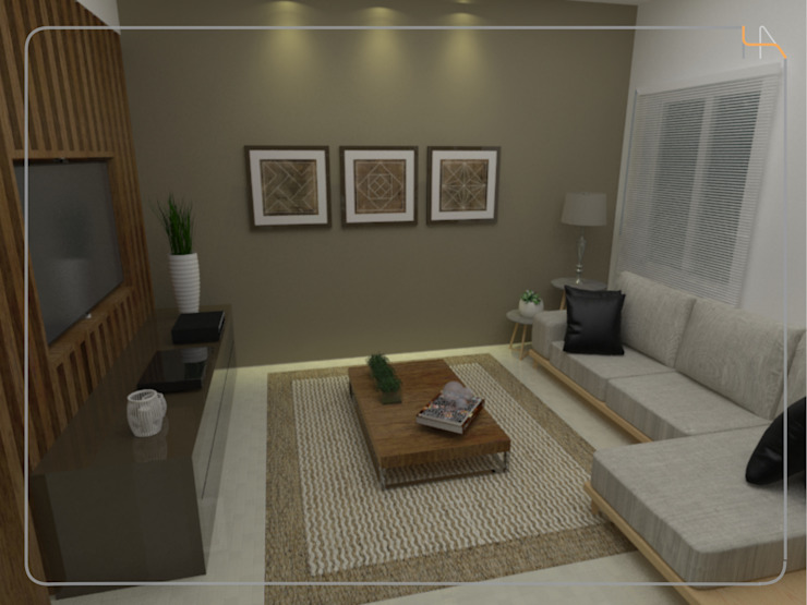 Humanize Arquitetura Moderne Wohnzimmer