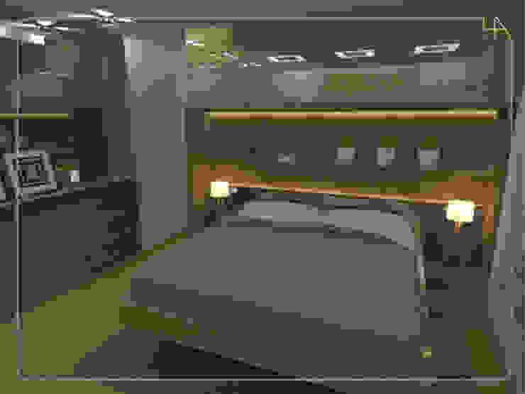 Humanize Arquitetura Modern style bedroom