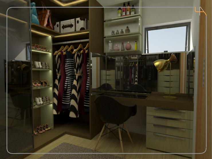 Humanize Arquitetura Modern style dressing rooms