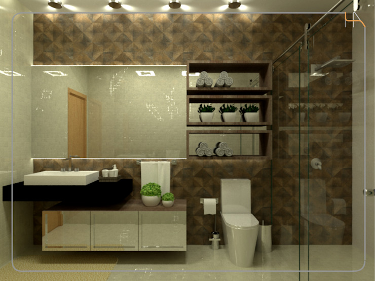 Humanize Arquitetura Modern bathroom