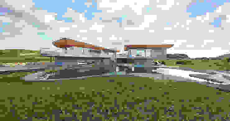 Projekty,  Domy zaprojektowane przez Bau-Fritz GmbH & Co. KG, Nowoczesny