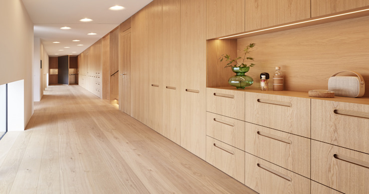 Projekty,  Korytarz, przedpokój zaprojektowane przez Bau-Fritz GmbH & Co. KG, Nowoczesny