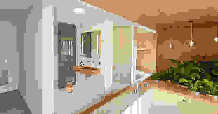 Projekty,  Łazienka zaprojektowane przez Bau-Fritz GmbH & Co. KG, Nowoczesny
