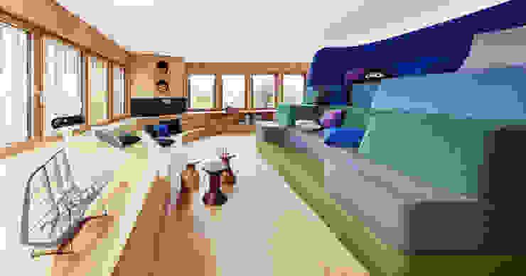 Projekty,  Salon zaprojektowane przez Bau-Fritz GmbH & Co. KG, Nowoczesny