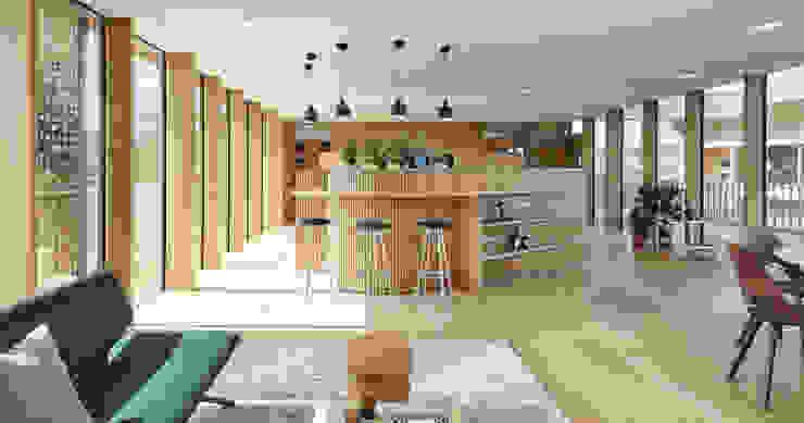 Projekty,  Kuchnia zaprojektowane przez Bau-Fritz GmbH & Co. KG, Nowoczesny