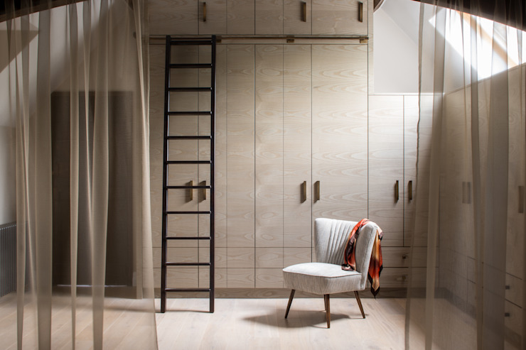 Richmond - Master Dressing Room Modern style dressing rooms by Roselind Wilson Design Modern