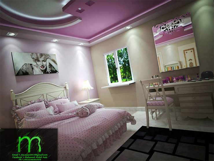 bedroom من EL Mazen For Finishes and Trims كلاسيكي خشب معالج Transparent