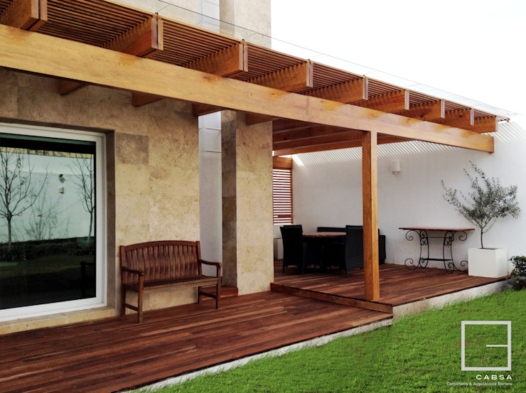 Terraza - Jardín Final de CABSA Taller de Carpintería & Arquitectura