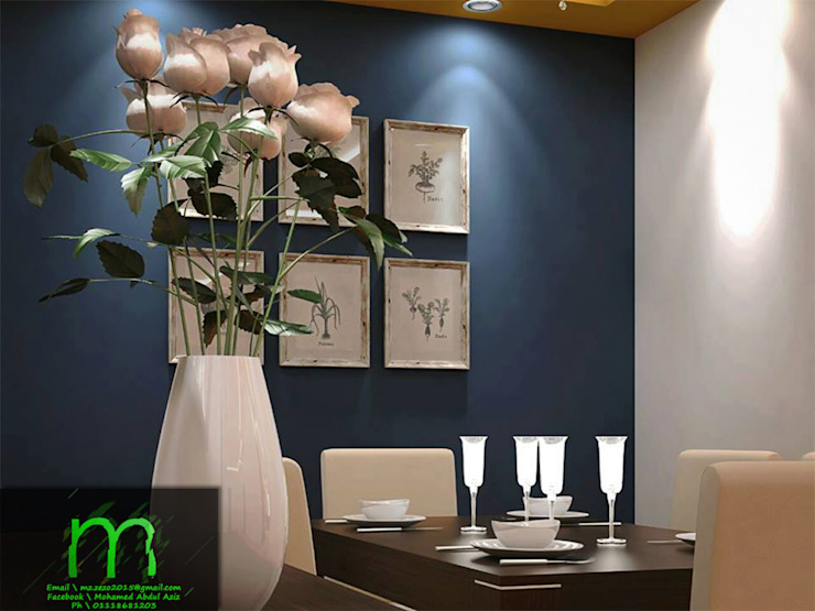 dining rooms: حديث  تنفيذ EL Mazen For Finishes and Trims, حداثي ألواح خشب مضغوط