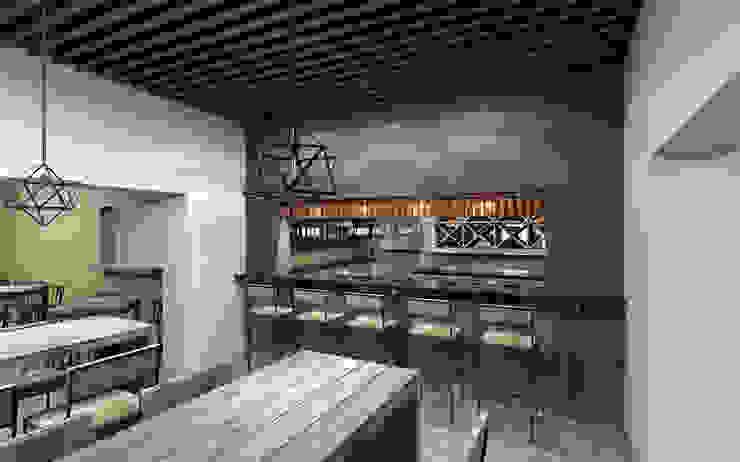 MINA-520 Gastronomía de estilo ecléctico de Indigo Arquitectos Ecléctico Madera Acabado en madera