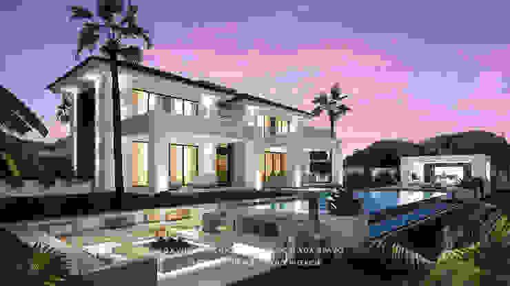 Dmg-Arquitectura - David Marchante - Inmaculada Bravo - Villa Benahavis - Cam 02 noche Casas mediterráneas de David Marchante | Inmaculada Bravo Mediterráneo